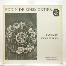 MIREILLE LAGACE - BODIN DE BOISMORTIER harpsichord works CALLIOPE LP NM
