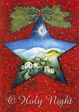 Holy Night Star - Box of 12 Religious Christmas Cards by LPG Greetings
