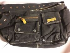 Black Adjustable Strap Purse with Double Pocket Zipper from Pacsun