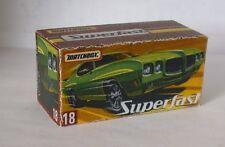 Repro Box Matchbox Superfast Nr.18 1970 Pontiac GTO neue Box
