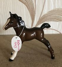 BESWICK HORSE FOAL SMALL STRETCHED MODEL No.997 BROWN GLOSS PERFECT CONDITION