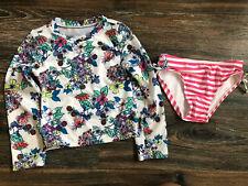 Toddler Girls Crazy 8 Long Sleeve Rash Guard Size 5T Swimsuit