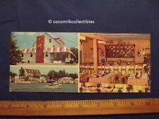 1960's Postcard Captain's Inn Forked River NJ New Jersey Boating Restaurant Bar