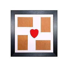 Multi Aperture Collage Picture Photo Frame Red Love Heart Design In Wood Frame