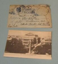1916 Buenos Aires Argentina Travel Postcard in Fancy Envelope Multiple Postmarks