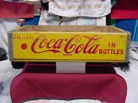 Vintage1960's CocaCola Wood packing case 24 12oz BottlesM 4-66 Richmond Virginia
