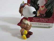 SNOOPY PEANUTS CHARLIE BROWN HALLMARK CHRISTMAS ORNAMENT FIGURE FIGURINE 1999