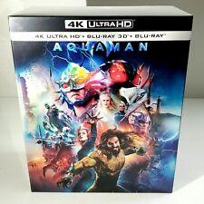AQUAMAN [4K UHD + 3D + 2D] Blu-ray WEA STEELBOOK 1-CLICK BOXSET [MANTA LAB] #064