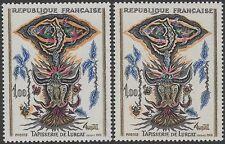 """FRANCE TIMBRE N° 1493 """" TAPISSERIE LURCAT VARIETE COULEUR """" NEUFS xx TTB K123a"""