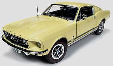 1967 Mustang Fastback ASPEN GOLD 1:18 Auto World 1038