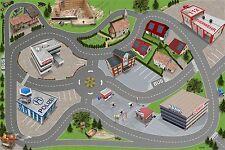 Stadt-City-Auto-Straße Spielmatte / Spielteppich Kinderzimmer - ca. 150 x 100 cm