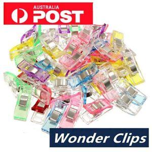Wonder Clips Crafts Fabric Quilting Clip Crochet Craft Plastic Clip DIY AU