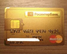 Debit Card RosinterBank russia MasterCard Gold Color