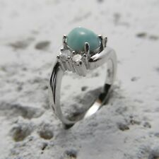 Size 8 3/4, Size R, Size 59 Blue LARIMAR Ring in solid 925 STERLING SILVER #0390
