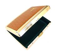 Rare 1960s TOSHIBA Leather/Metal Cigarette Card Case Box JAPAN Numbered