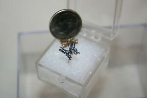 Miniature Dollhouse Artisan Japanese White Butterfly  on Wire 1:12 NR