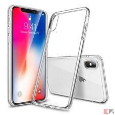 Cover Custodia Apple iPhone x con Vetro Temperato Ultra Slim trasparente