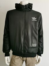 Rare Adidas Chile '62 hooded padded thick Jacket | Black Silver  Sherpa lined