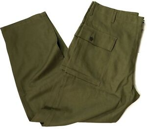 WWII US DARK SHADE TYPE II HBT COMBAT FIELD TROUSERS-LARGE