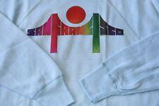 NWOT! 1976! VINTAGE SAN FRANCISCO MEDIUM SWEAT SHIRT BRIDGE GAY PRIDE RAINBOW