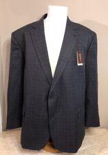 NEW Mens Oakhill 58/60R 4XL Gray Plaid Sport Coat Blazer Jacket $198