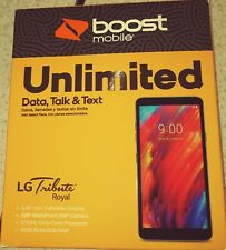 "LG Tribute Royal Boost Mobile Prepaid - 5.45"" HD+ FullVision Display Brand New"