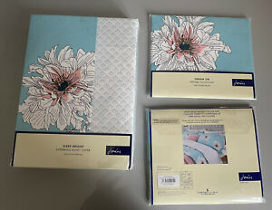 Joules Super King Duvet Set. Joules Linear Peony Super King Bed Set New