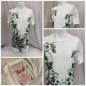 Kinetix T Shirt M White Short Sleeve 100% Cotton Made In USA NWT YGI N1-283CG