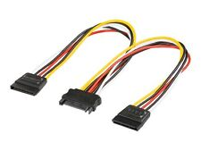 Wentronic 95114-gb SATA Jack to 2x SATA Plug Internal Power Supply Adapter Cable