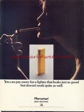MARUMAN CIGARETTE LIGHTER - 1970s Original (NOT Repro) ADVERT. Free UK Post