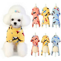 Pet Dog Pajamas Puppy Coat Jumpsuit Cotton Cartoon Pattern Soft Clothes Apparel