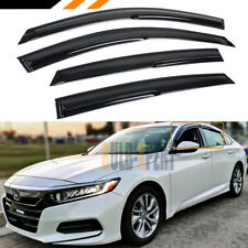 FOR 2018 HONDA ACCORD LX EX SPORT TOURING JDM WINDOW VISOR RAIN GUARD DEFLECTOR