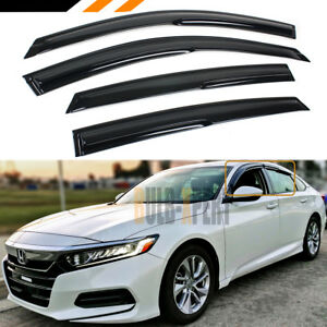 FOR 2018-2021 HONDA ACCORD LX EX SPORT TOURING WINDOW VISOR RAIN GUARD DEFLECTOR