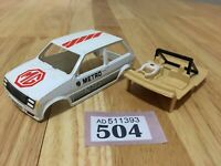 Scalextric Car Spares Metro Turbo MG White C318 Body / Shell / Cabin Lot 504