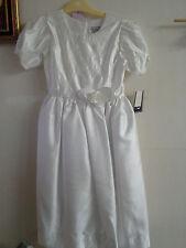 New White Satin Communion or Flower girl Dress Size 12X