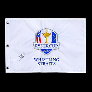 Steve Stricker Autographed Ryder Cup Golf Flag TEAM USA Captain Signed w JSA COA