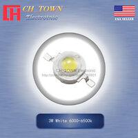 10Pcs 3W Watt High Power White 6000-6500k SMD LED Chip COB Lamp Beads Lights