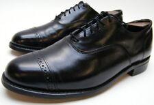 MENS VINTAGE STUART MCGUIRE BLACK LEATHER CAPTOE OXFORD DRESS SHOES SZ 8.5~1/2 D