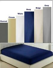 Full Deep Fitted and Flat Sheets All size Bedding Sheet 100% Egyptian Cotton New