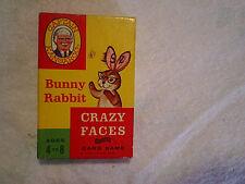 BUNNY RABBIT CAPTAIN KANGAROO CRAZY FACES CARD GAME,eights,i doubt it,tv show