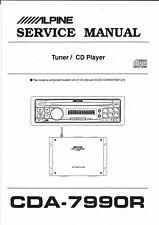Alpine Service Manual para CDA - 7990 R inglés