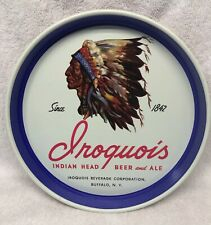 Iroquois Indian Head Beer & Ale Tray Iroquois Beverage 1842 Buffalo Ny Nos*