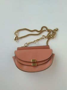 100% Authentic CHLOE Georgia Belt bag Pink leather Mini