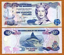 Bahamas, 100 dollars, 2000, P-67, Qeii, Unc