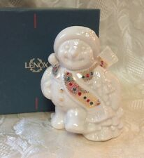 Lenox Snowman From The China Jewels Collection Enameled Jewels & 24k Retired