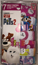 New 7 Pack Girls Underwear The Secret Life of Pets 2 Size 4 100% Cotton