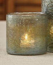 "Aged Mercury Glass Votive Holder, Iridescent Finish in Mist, Silver, Olive, 4"" H"