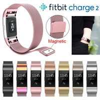 For Fitbit Charge 2 Strap Replacement Milanese Band Stainless Steel Magnet New