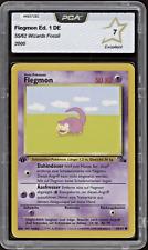 2000 Pokemon FLEGMON   Slowpoke - 55/62 - 1. Edition - Fossil - PCA 7 (= PSA 7)