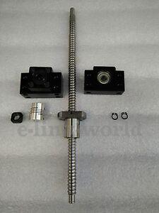 Ballscrew RM2505-803mm Ballscrew &BF20/BK20 End support &12*14mm Coupling